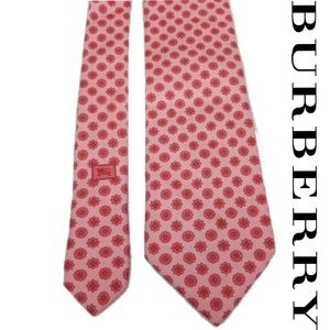 Burberry London Pink Flowers Tie 100% silk Fathers